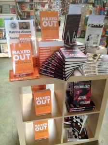 Photo of bookstore display for Maxed Out: American Moms on the Brink